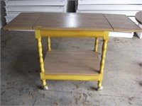 Yellow base with drop leaf top cart