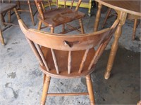 Hardwood table and four chairs