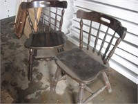 Two matching dining room chairs
