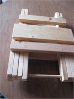 Pair folding camp stools