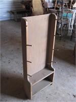 Gun rack with shelf