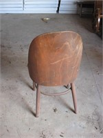 Unusual bent plywood chair