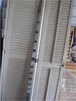 Pair of wood shutters