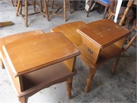 Maple step end tables