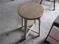Shop stool and shelf unit