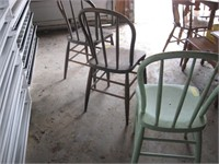 Three Bentwood chairs