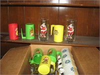 Looney Toons glasses and mugs