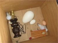 Pair of ox yoke table lamps