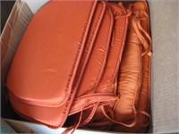 Orange chair pads
