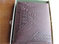 Collectible leather bound photo album