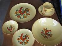 Rooster dinnerware