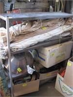 Metal four shelf unit