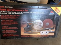 Sears Craftsman table saw accessory set