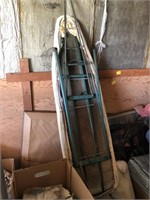 Metal ironing board and picture