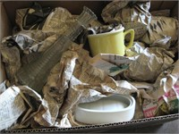 Box of miscellaneous glassware and pottery