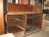 Plywood constructed store cabinet