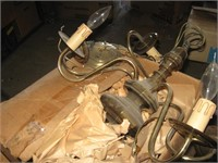 Brass hanging chandelier