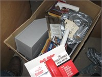 Box full of painting supplies