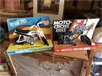 Wooden step plant holder & Honda motorcycles