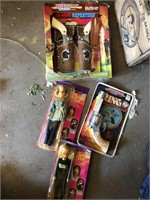 Wooden beer crate and toy pistols