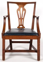 Rare VA / NC Chippendale walnut armchair (c. 1790)