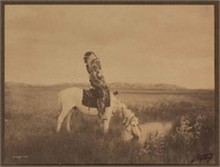 """Edward Sherriff Curtis (American, 1868-1952) """"Oasis in the Badlands"""""""