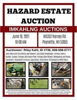 Imkahlng Auctions - Hazard Estate - Live/Onsight Only