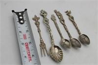 IDAHO, Washington DC & ITALY Souvenir Spoons