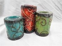 Decorative Metal Triple Candle Holder