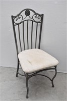 Cushioned Metal Dining Chair