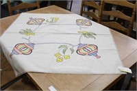 Embroidered/Rick-Rack Square Table Cloth/Topper