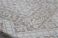 Beautiful Vintage Tablecloth Scalloped Edges