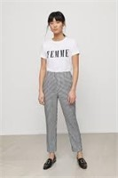 DYNAMITE Kendall High-Rise Gingham Pant- 4