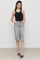 DYNAMITE Denim Midi Skirt- XS