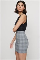DYNAMITE Elle Plaid Bodycon Skirt- S
