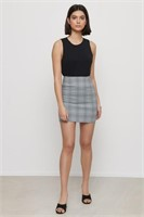 DYNAMITE Elle Plaid Bodycon Skirt-L