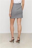 DYNAMITE Gingham Front Slit Mini Skirt- L