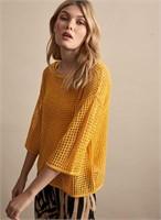 MELANIE LYNE Open Knit Sweater-S