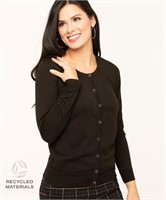CLEO Recycled Button Down Cardigan-L