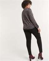 REITMANS Long Sleeve Printed Tee with Bow-XL