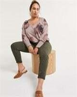 REITMANS Long Sleeve V-Neck Sweatshirt-L