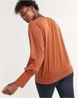 REITMANS Long Sleeve V-Neck Sweatshirt-M