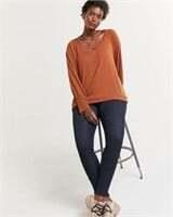 REITMANS Long Sleeve V-Neck Sweatshirt-XL
