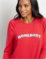 MAURICE Red Homebody Crew Neck Pullover Sweatshirt