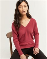 REITMANS V-Neck Sweater with Dolman Sleeves-2X