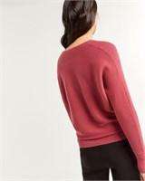 REITMANS V-Neck Sweater with Dolman Sleeves-XXL