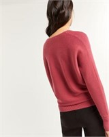 REITMANS V-Neck Sweater with Dolman Sleeves-L