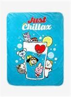 BT21 Just Chillax Plush Throw Blanket