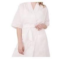 la Vie en Rose Scallop Short Sleeves Kimono - Wht