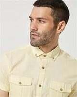 LE CHATEAU Cotton Slub Short Sleeve Shirt-L